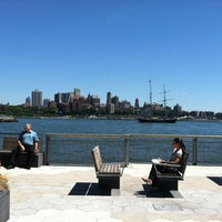 Photo taken at East River Esplanade by Liesel on 7/25/2012