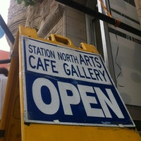 Photo taken at Station North Arts Cafe Gallery by joezuc on 7/22/2012