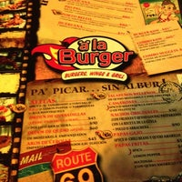 "Photo taken at ""a"" la Burger by Alex B. on 5/28/2012"