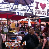 Photo taken at Greenwich Market by Carolyn D. on 8/5/2012