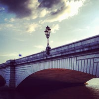 Photo taken at Putney Bridge by Charlie H. on 5/28/2012