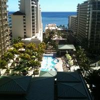 Photo taken at Embassy Suites by Hilton Waikiki Beach Walk by Angela C. on 8/11/2012