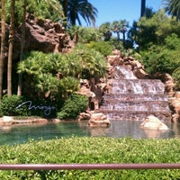 Photo taken at The Mirage Waterfall by Rob  😘😘 C. on 7/1/2012