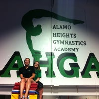 Photo taken at Alamo Heights Gymnastics Academy by Jenny M. on 5/25/2012