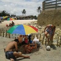 Photo taken at Praia Azul by Omar L. on 2/21/2012