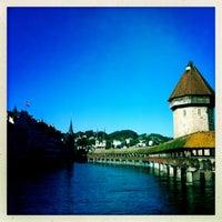 Photo taken at Chapel Bridge by Marisa P. on 8/27/2012