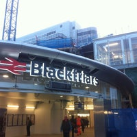 Photo taken at London Blackfriars Railway Station (BFR) by Jeremy G. on 3/13/2012