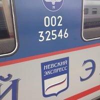 Photo taken at Поезд № 748 «Невский экспресс» Москва — Санкт-Петербург by Leonid on 8/17/2012