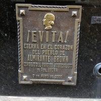 Photo taken at Mausoleo de Eva Perón by Tony on 6/25/2012