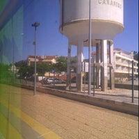 Photo taken at Estação Ferroviária de Caxarias by Tony R. on 6/22/2012