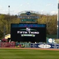 Photo taken at Fifth Third Ballpark by Ryan B. on 4/9/2012