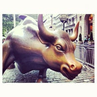 Photo taken at Charging Bull by Courtney T. on 6/14/2012