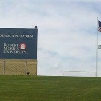 Photo taken at Joe Walton Stadium by Douglas on 5/1/2012