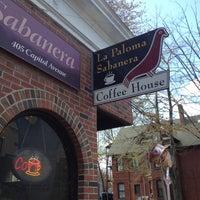 Photo taken at La Paloma Sabanera Coffeehouse by EdzizleMizzle on 4/13/2012