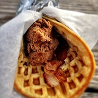 Photo taken at Lucky J's Chicken & Waffles by Caleb M. on 3/13/2012
