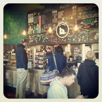 Photo taken at Equal Exchange Cafe by Tim L. on 4/6/2012