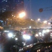 Photo taken at Halte TransJakarta Setiabudi Utara Aini by Victor G. on 4/20/2012