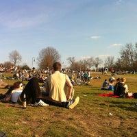 Photo taken at Görlitzer Park by Monica Z. on 3/24/2012