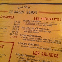 Photo taken at La Bonne Soupe by James C. on 3/6/2012
