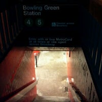 Photo taken at MTA Subway - Bowling Green (4/5) by Benjamin W. on 3/9/2012