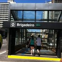 Photo taken at Estação Brigadeiro (Metrô) by Luciana M. on 4/7/2012