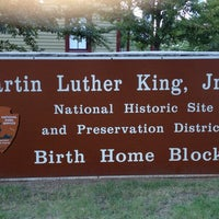 Photo taken at Martin Luther King Jr. Birth Home by Robert M. on 8/26/2012