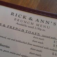 Photo taken at Rick & Ann's Restaurant by Heather C. on 9/8/2012
