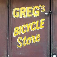 Photo taken at Greg's Bicycle Store by Andro C. on 2/27/2012