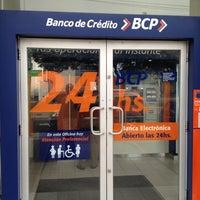 Photo taken at Banco de Crédito BCP by Álvaro S. on 7/6/2012