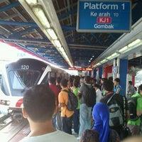 Photo taken at RapidKL Kelana Jaya (KJ24) LRT Station by Ming Lee C. on 4/28/2012