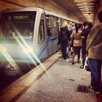 Photo taken at Metro Kiyevskaya, line 4 by 📷 Evgeny E. on 4/16/2012