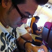 Photo taken at Thai Airways Flight TG 115 by Jill N. on 4/15/2012