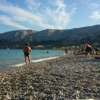 Photo taken at Baška Beach by Zoran P. on 7/31/2012