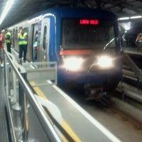 Photo taken at Estação Santo Amaro (Metrô) by Leonardo C. on 3/15/2012