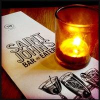 Photo taken at Saint John's Bar & Eatery by josh b. on 5/30/2012