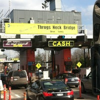 Photo taken at Throgs Neck Bridge Toll Plaza by Emma R. on 3/9/2012