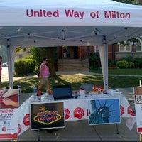 Photo taken at Milton Farmer's Market by Robin R. on 8/25/2012