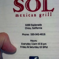 Photo taken at Sol Mexican Grill by Courtney C. on 8/7/2012