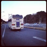 Photo taken at 因島大橋バスストップ by Hiroki O. on 3/25/2012