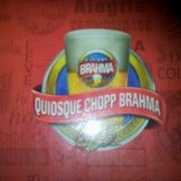 Photo taken at Quiosque Chopp Brahma by Eduardo M. on 7/5/2012