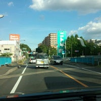 Photo taken at 東埼橋 by Nao K. on 8/25/2012