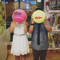 Photo taken at Wilson Store - US Open by Chaz C. on 9/5/2012