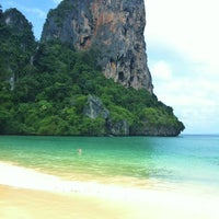 Photo taken at Railay Beach West by Itch B. on 5/22/2012