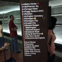 Photo taken at Metro Center Metro Station by Alan M. on 7/10/2012