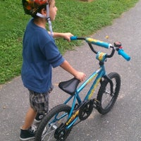 Photo taken at Lineberger Park Greenway by Brandon H. on 8/28/2012