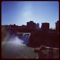Photo taken at High Falls by Rachel T. on 3/14/2012