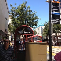 Photo taken at 5th Ave Trolley Station by R U. on 7/6/2012