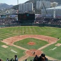 Photo taken at Sajik Baseball Stadium by Mint C. on 4/7/2012