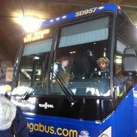 Photo taken at Megabus Stop - Washington, DC by Fiorella F. on 2/10/2012