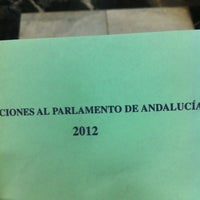 Photo taken at Escuela Politécnica Superior de Sevilla by J C. on 3/25/2012